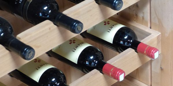 Chianti wine bottles from Tuscany