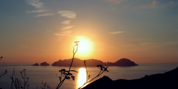 Palmarola sunset at the Pontine Islands