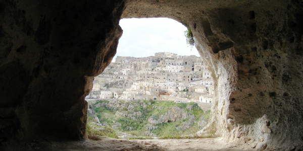 Cave dwellings in Sassi di Matera