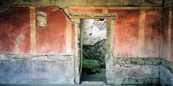 Architectural ruins in Pompeii