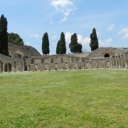 Archeology site in Pompeii