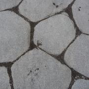 Cobble stone paving in Pompeii