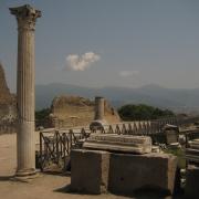 Columnar statue in Pompeii