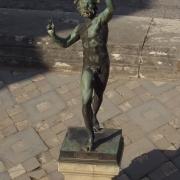 Copper statue in Pompeii