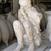 Man statue in Pompeii