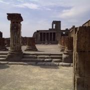 Temple ruins in Pompeii