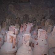 Urns and vessels found in Pompeii